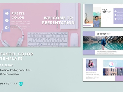 Powerpoint Template - Pastel Color pastel color color pastel presentation template presentation design presentation design graphicdesign branding
