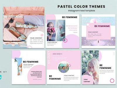 Instagram Feed - Be Feminime fashion brand instagram story instagram post instagram template instagram design graphicdesign branding