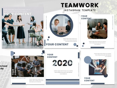 Instagram Feed Template - Teamwork fashion brand graphic  design business fashion instagram story instagram post instagram template instagram design graphicdesign branding