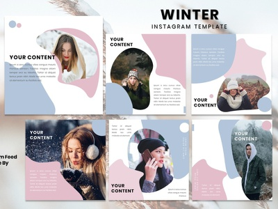 Instagram Feed Template - Winter models fashion instagram story instagram post instagram template instagram design graphicdesign branding