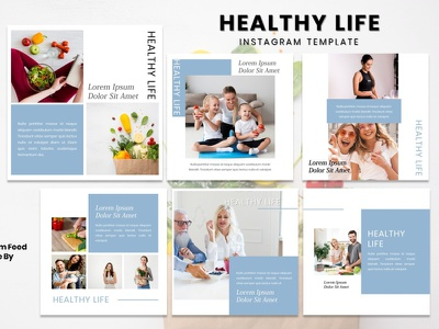 Instagram Story Template - Healthy Life fashion brand models fashion instagram story instagram post instagram template instagram design graphicdesign branding