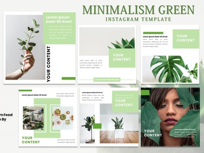 Instagram Feed Template - Minimalis Green green tamplate instagram story instagram post instagram template instagram design graphicdesign branding