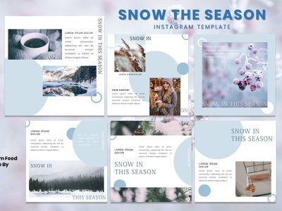 Instagram Feed Template - Snow In This Season presentation instagram story instagram post instagram template instagram design graphicdesign branding