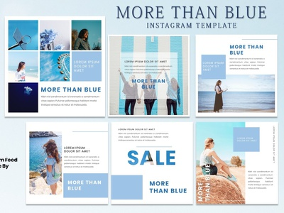 Instagram Feed Template - More Than Blue models fashion instagram story instagram post instagram template instagram design graphicdesign branding