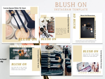 Instagram Feed Template - Blush On fashion fashion brand presentation instagram story instagram post instagram template instagram design graphicdesign branding
