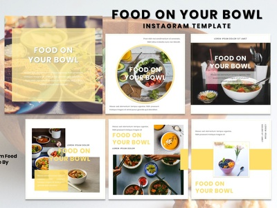 Instagram Feed Template - Food On Your Bowl instagram template instagram design graphicdesign instagram story instagram post branding