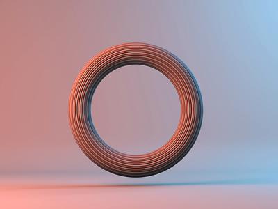 3D ring animation 3d animation cinema 4d lighting deformer modeling 3d cinema4d animation