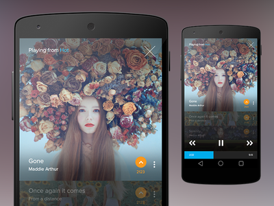 Extended Player ios android music music player album controls vote list app android l