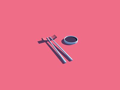 Chopsticks! 3d art design tutorial cinema4d 3d
