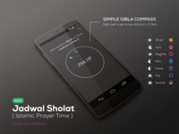 Qibla Compass for Islamic Prayer Time (Concept)