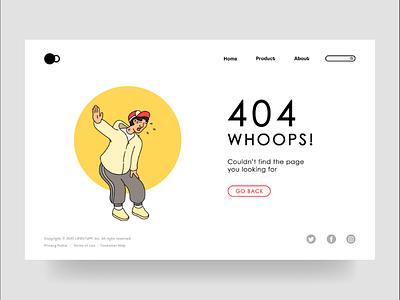 Error 404 Page Design uiux ui ux illustration error404