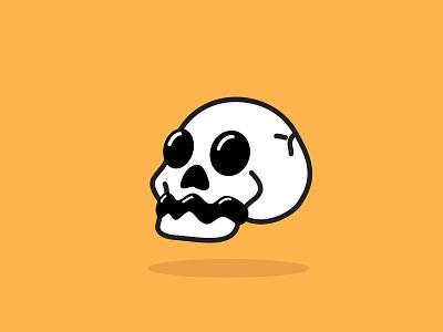 skull flatillustration flatdesign illustration flatillustration vector illustration character cutecharacter cute illustration logo flatdesign