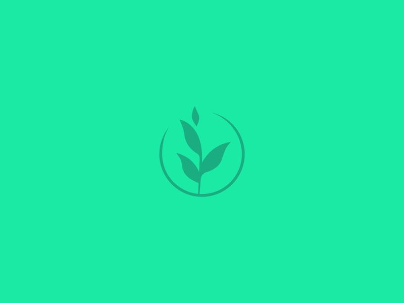 Plant logo mark logo design green leaves leaf eco-friendly plant branding illustration mark design vector logo