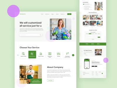 Home Service Landing Page house care ui home care home service