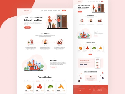 Need Delivery-Online Delivery Landing Page food delivery online delivery delivery