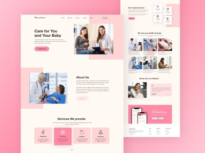 Happy Maternity - Maternity Care Landing Page pregnant pregnancy maternity