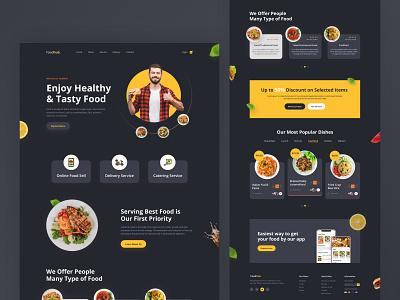 Foodhub- Restaurant Landing Page food food delivery food restaurant