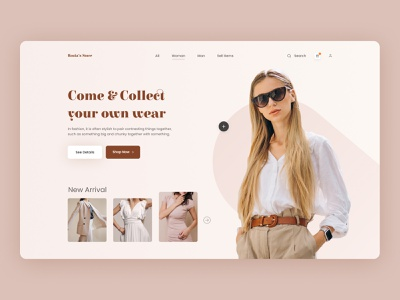 Rozia's Store- Fashion Landing Page online shopping online fashion fashion