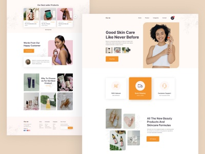 Cueva- Skin Care Landing Page beauty skin care skin product