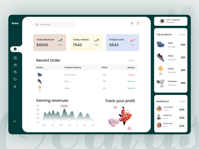 Ecommerce Dashboard UI Exploration minimal design typogaphy ui  ux dashboard ui ecommerce dashboard ecommerce illustration dashboard ui kit dashboard design dashboad