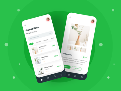 Mobile App UI Exploration mobile apps trendy minimal trends android app ios app flower flower vase colourful typography mobile ux mobile ui ecommerce ecommerce shop ecommerce app