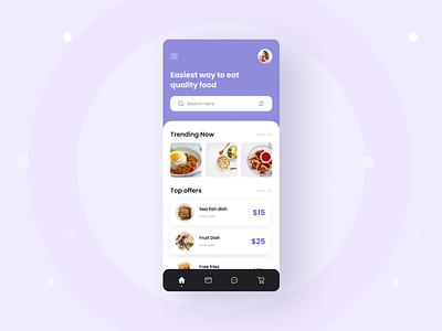 Mobile App UI Exploration typography trendy shot trendy app 2021 trend trendy design design minimal ios app android app taste mobile food app foodie food ux ui app design