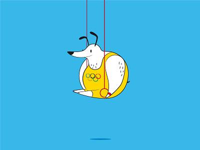 Cirque du Chien dogs cartoon funny fat janeiro de rio dog rings olympics