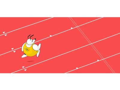 See Spot Run isometric olympics running dog field track games summer rio