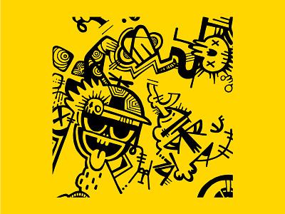 Inktober 2016 street art skulls graffiti monsters sharpie inktober