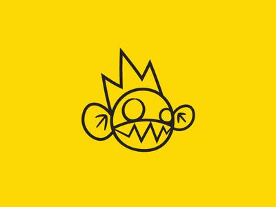Monkey King Logo Redesign teeth graffiti street king monkey logo