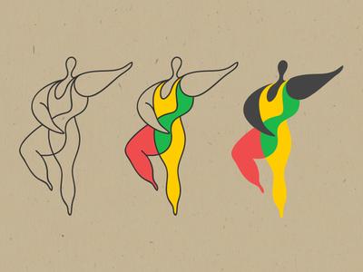 Ballet body human line dance africa ballet