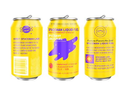 Spaceman Liquid Fuel Cans labels can packaging beer planet space