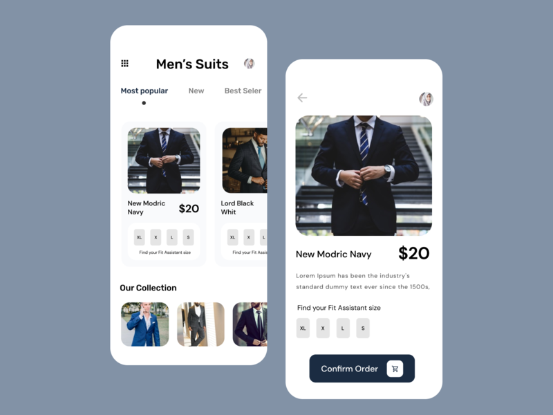 Shopping delivery app ux ui mobile app design