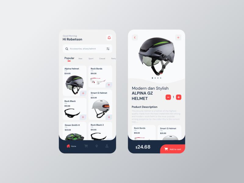 HI Robetson shopping decorative branding web logo ux ui app mobile design