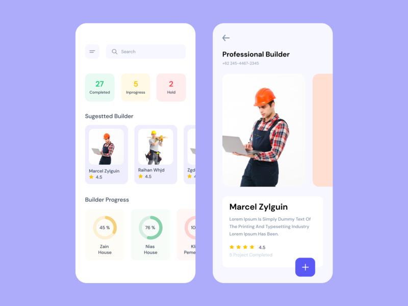 Professional Builder ux ui mobile app design