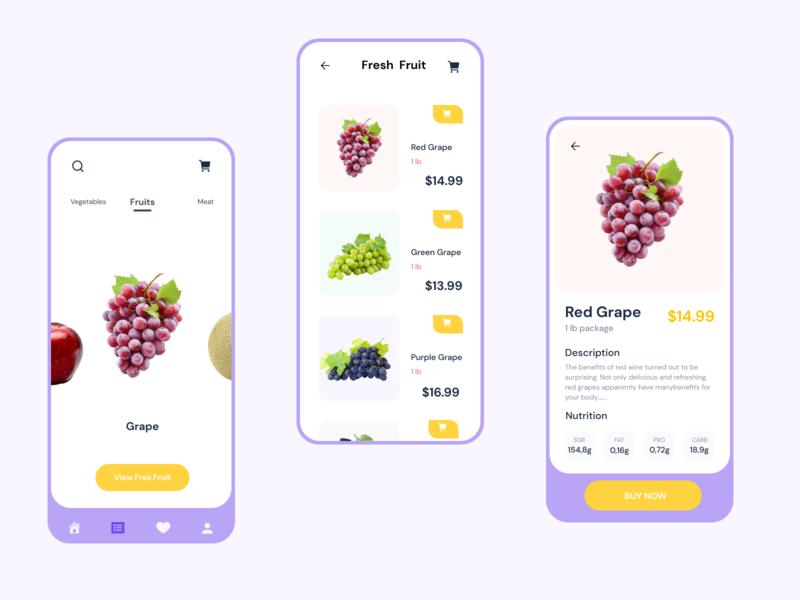 App Fruit For You food app branding web delivery app ux ui mobile app design