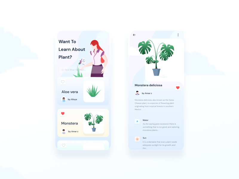 Want To Learn About Plant plant flat animation decorative illustration ux ui mobile app design