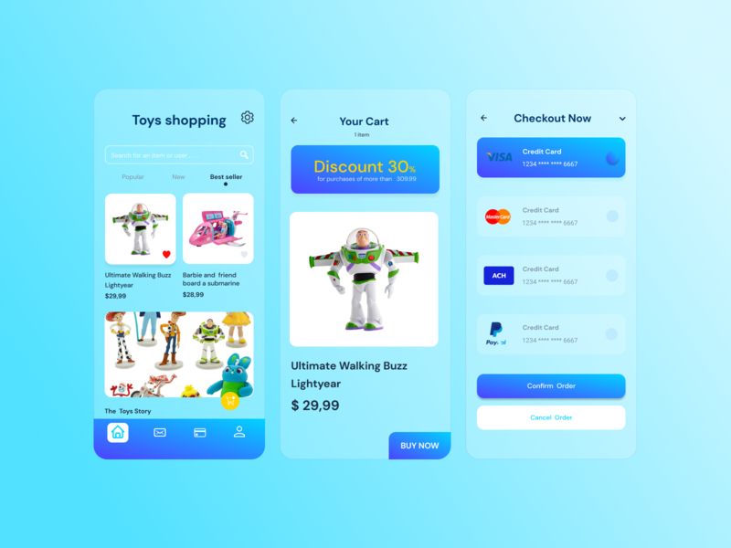 Toy shopping child figma toy delivery app ux ui mobile app design