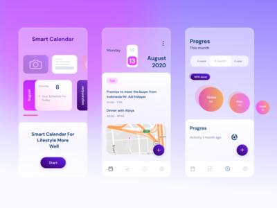 Smart Calendar date time ux ui mobile app design