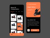 Means Of Transportation delivery app icon illustration ux ui app mobile design