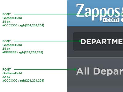 Specs specs fonts zappos blue dark ui ipad menu