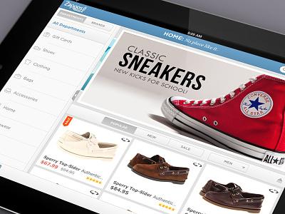 Zappos iPad ipad zappos ui ux mobile
