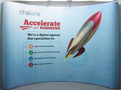 ChaiONE Booth retro booth blue red display rocket