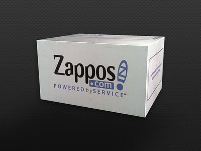 3D Zappos Box maya 3d zappos box fire amazon