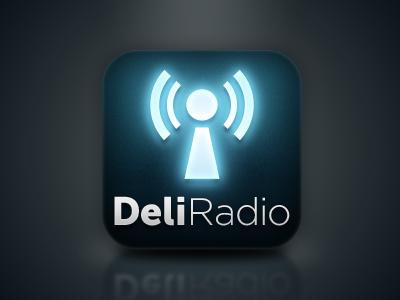Deli Radio icon iphone app iphone icon blue glow dark ios