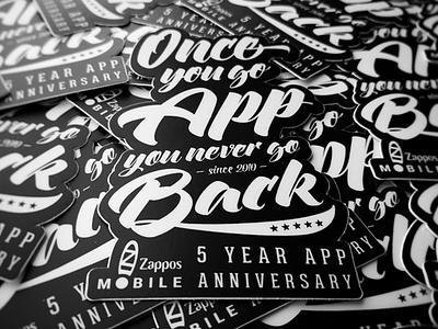 5 Year Anniversary Sticker zappos script stickermule sticker