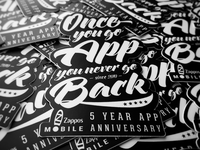 5 Year Anniversary Sticker