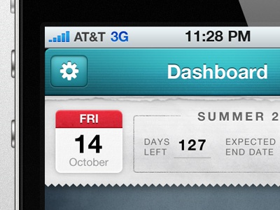 iOS School App ios iphone blue paper texture school