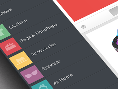 Menu ipad color menu icons