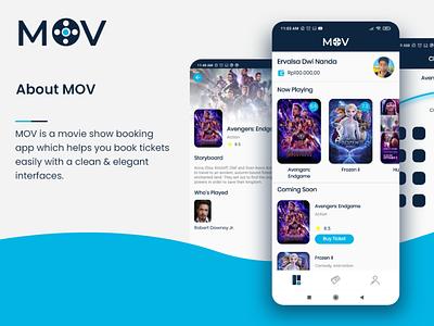 MOV - App app uiux ui design